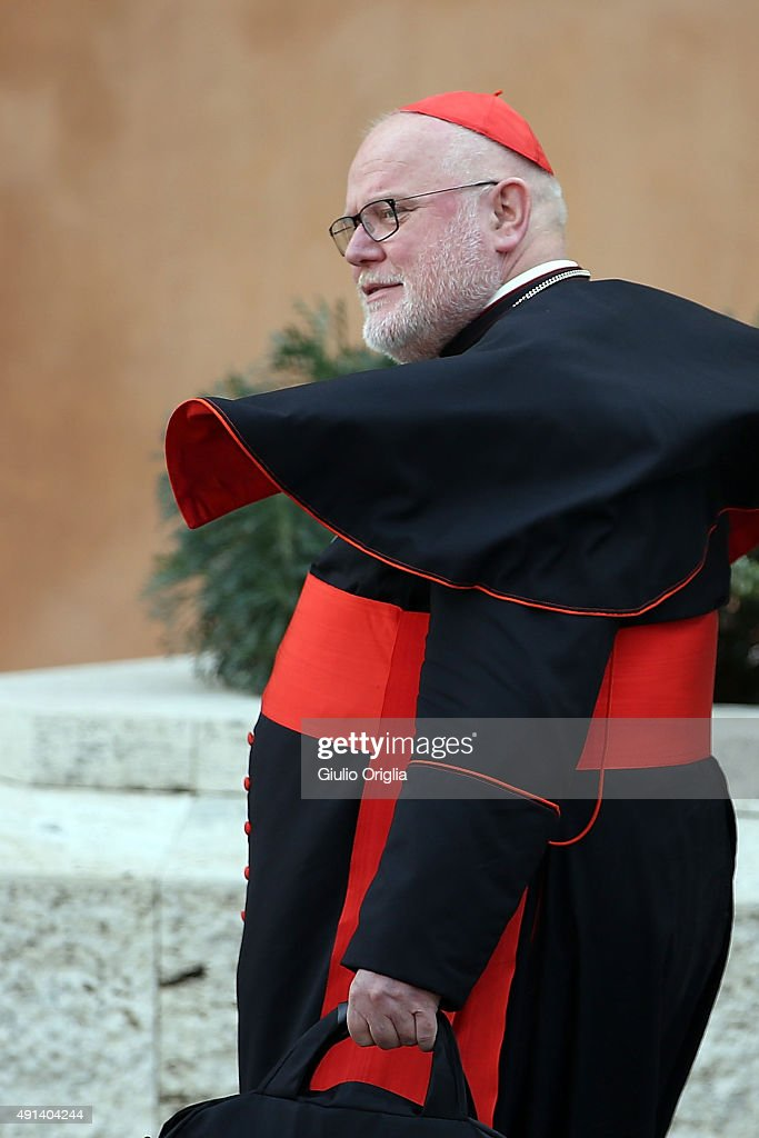 Cardinal Reinhard Marx leaves the opening session of the Synod on the themes of family at Synod Hall on October 5, 2015 in Vatican City, Vatican. The main themes of this Synod of Bishops are 'The vocation and mission of the family in the Church and the contemporary world'.