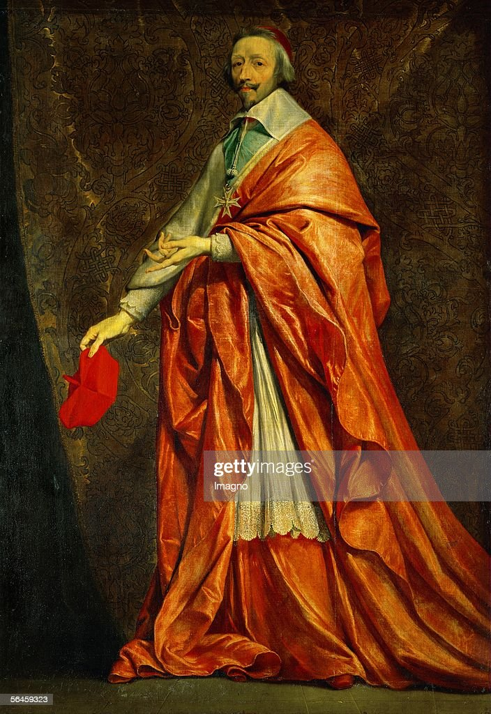 <a gi-track='captionPersonalityLinkClicked' href=/galleries/search?phrase=Cardinal+Richelieu&family=editorial&specificpeople=988311 ng-click='$event.stopPropagation()'>Cardinal Richelieu</a> (Armand Jean du Plessis,Duc de Richelieu, 1558-1624). Canvas, 222 x 1555 cm. INV 1136. (Photo by Imagno/Getty Images) [Kardinal de Richelieu ( eigentlich Armand Jean du Plessis, 1558-1624). Canvas, 222 x 1555 cm. INV