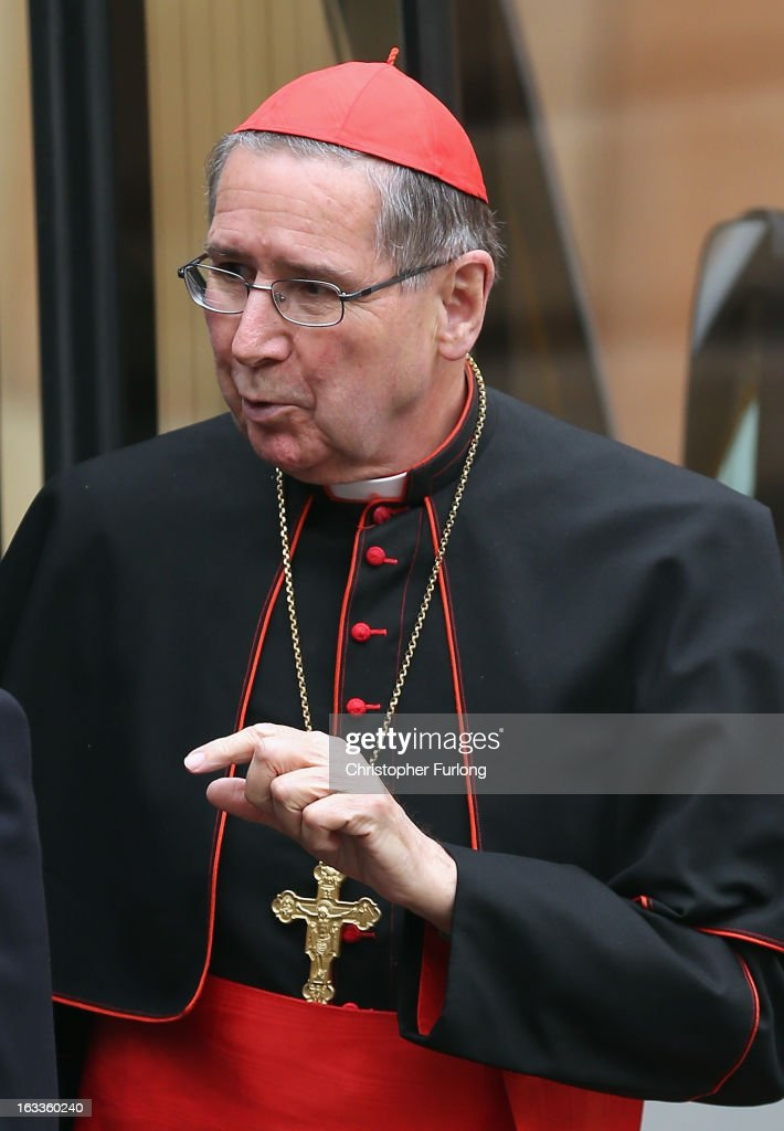 Cardinal <a gi-track='captionPersonalityLinkClicked' href=/galleries/search?phrase=Roger+Mahony&family=editorial&specificpeople=664416 ng-click='$event.stopPropagation()'>Roger Mahony</a> of the U.S. arrives for the eighth congregation at the Paul VI Hall inside the Vatican on March 8, 2013 in Vatican City, Vatican. Cardinals are set to enter the conclave to elect a successor to Pope Benedict XVI after he became the first pope in 600 years to resign from the role. The conclave is scheduled to start on March 12 inside the Sistine Chapel and will be attended by 115 cardinals as they vote to select the 266th Pope of the Catholic Church.
