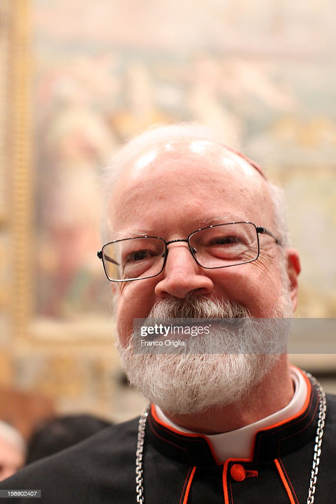 Cardinal <a gi-track='captionPersonalityLinkClicked' href=/galleries/search?phrase=Sean+Patrick+O%27Malley&family=editorial&specificpeople=729476 ng-click='$event.stopPropagation()'>Sean Patrick O'Malley</a>, archbishop of Boston, attends the courtesy visits at the Sala del Trono Hall at the end of the concistory held by Pope Benedict XVI on November 24, 2012 in Vatican City, Vatican. The Pontiff installed 6 new cardinals during the ceremony, who will be responsible for choosing his successor.