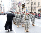 Cardinal Timothy Dolan during the 2014 St Patrick's Day Parade on March 17 2014 in New York City