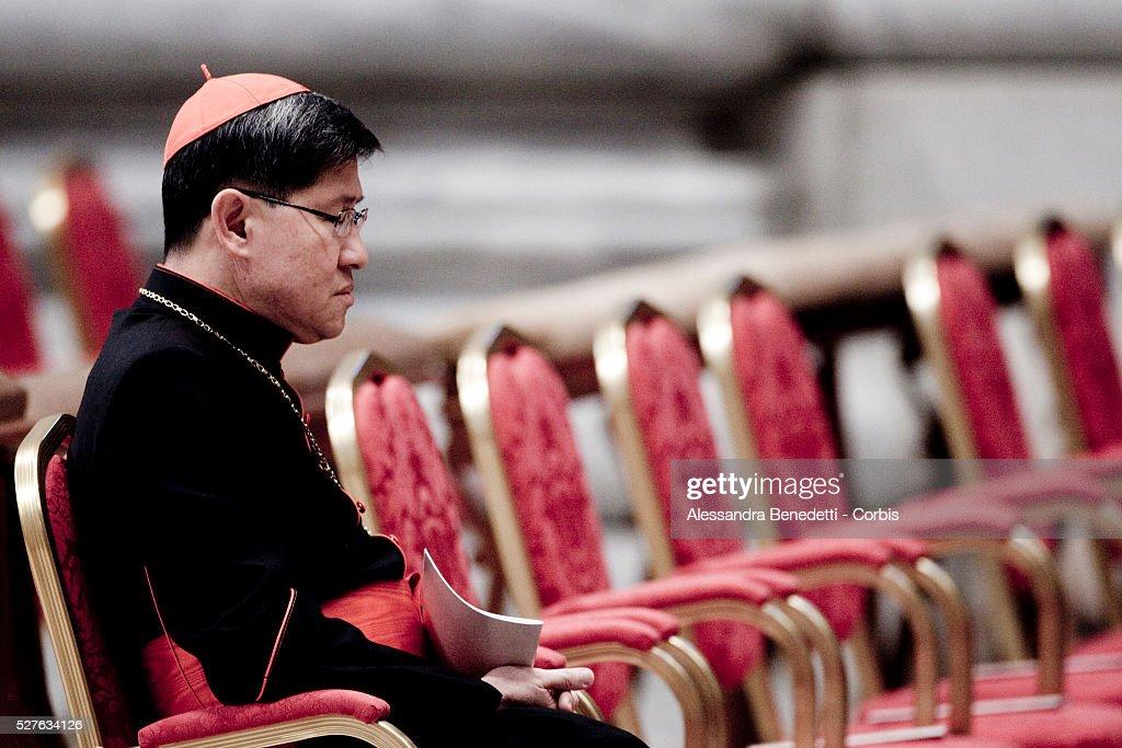Cardinals Luis Antonio Tagle attends Celebration of a vesper prayer in St Peter's Basilica at the Vatican