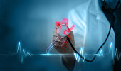 Cardio exercise increases the heart's health, concept healthy body, healthy mind