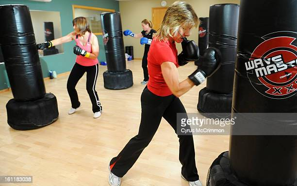 A Cardio Kick Boxing workout is lead by Dianne Bailey The great
