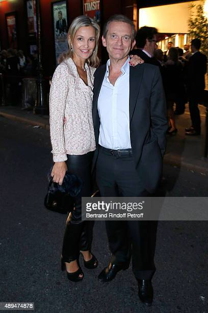Cardiologist and bestselling author in the Wellness Doctor Frederic Saldmann and his wife Marie attend the 'Trophees du BienEtre' by Beautysane First...