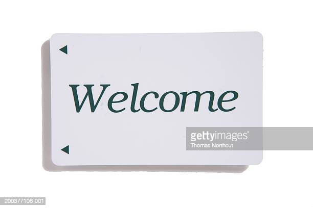 Cardkey with 'Welcome' across front