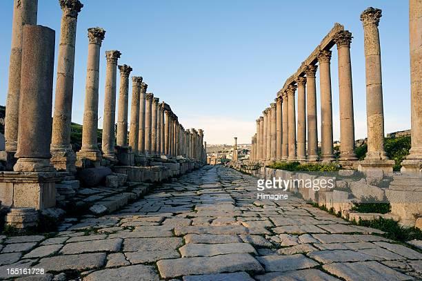 Cardo Maximus de Jerash. Jordan