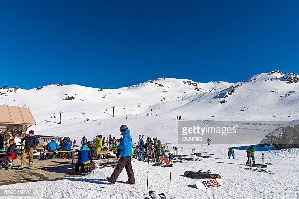 Cardrona Mountain Captains Basin hut and ski field