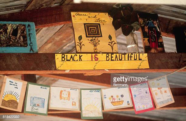 Cards and pictures made by the children of members of the People's Temple in Jonestown Guyana
