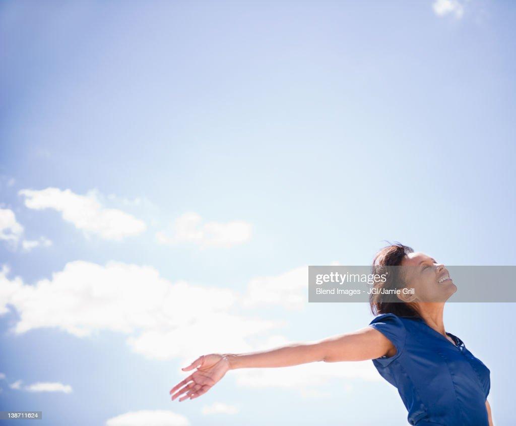 Carefree Black woman : Stock Photo