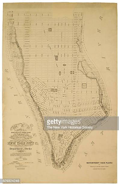Carefully compiled and reduced fro the maps of the US Coast Survey and actual surveys made by the Department of Docks 1873 Showing existing and...