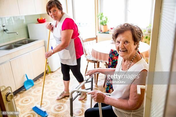 Caregiver Doing the Chores