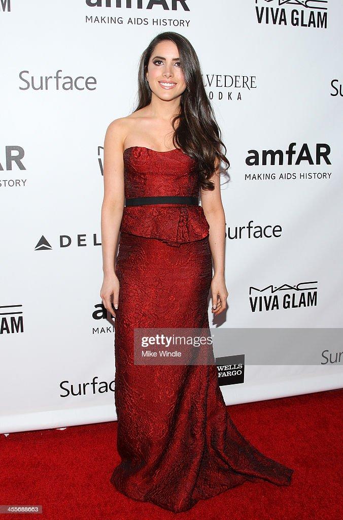 Caren Brooks attends the 2013 amfAR Inspiration Gala Los Angeles presented by MAC Viva Glam at Milk Studios on December 12, 2013 in Los Angeles, California.