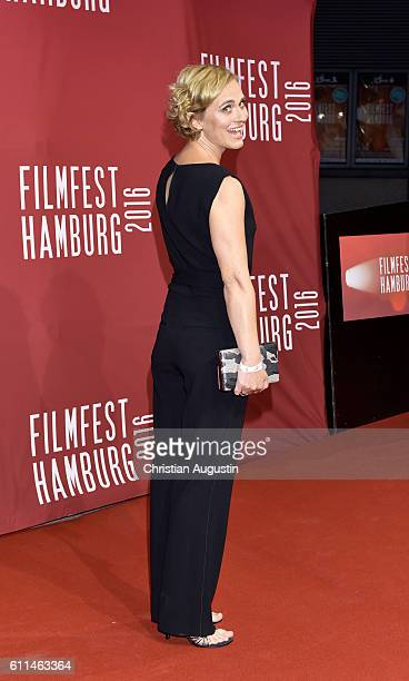 Caren Miosga attends the premiere of 'Amerikanisches Idyll' during the opening night of Hamburg Film Festival 2016 on September 29 2016 in Hamburg...