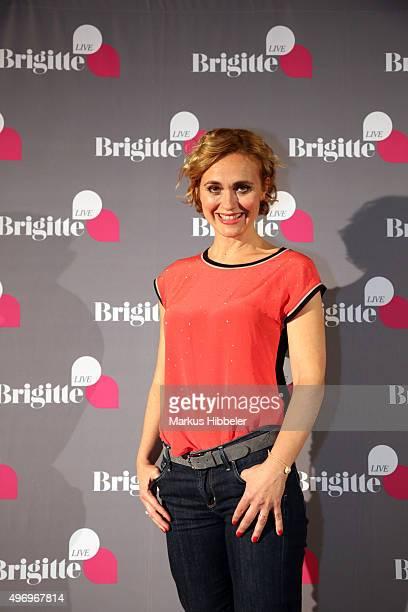 Caren Miosga during the 'Brigitte Live Gespraech mit Caren Miosga' talk at Abaton Kino on November 12 2015 in Hamburg Germany