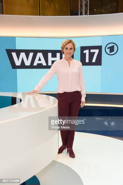 Caren Miosga during the 'Bundestagswahl' TV Show Photo Call on September 22 2017 in Berlin Germany