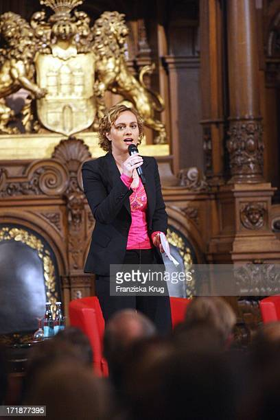 Caren Miosga 'International Media Dialogue' in the Town Hall in Hamburg
