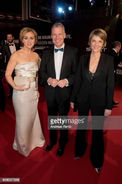Caren Miosga Peter Kloeppel and Marietta Slomka arrive for the Goldene Kamera on March 4 2017 in Hamburg Germany
