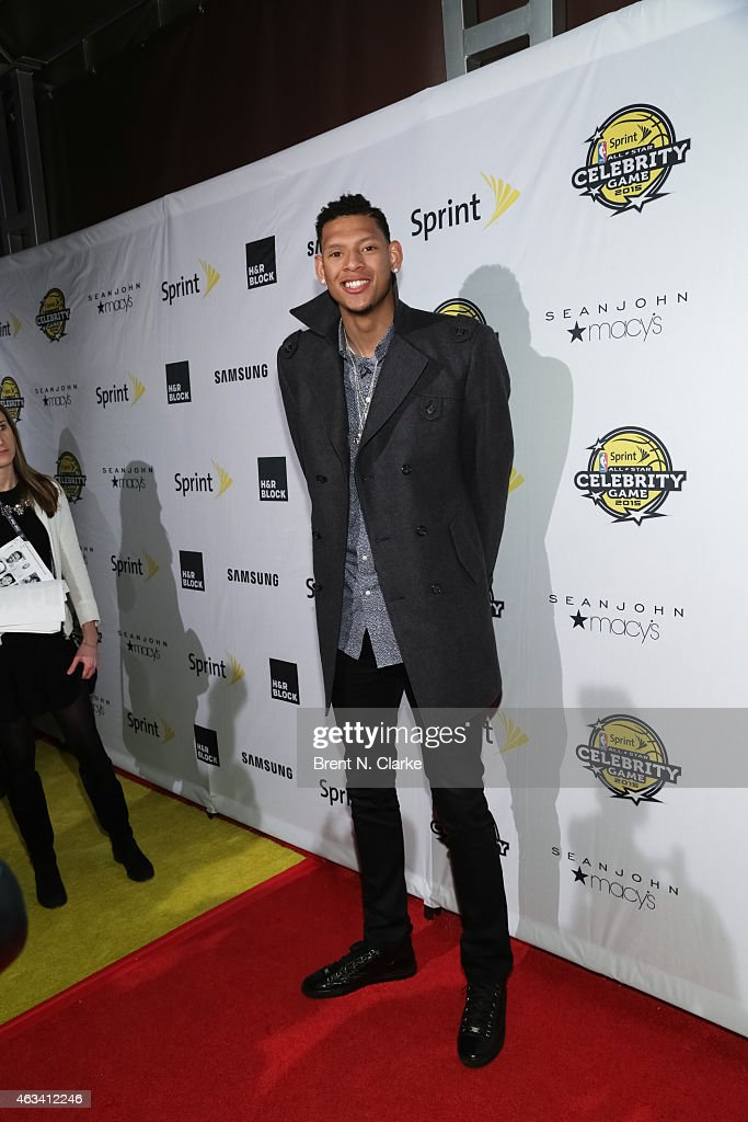 Cares Ambassador Isaiah Austin arrives for the NBA All-Star Celebrity Basketball Game 2015 at Madison Square Garden on February 13, 2015 in New York City.
