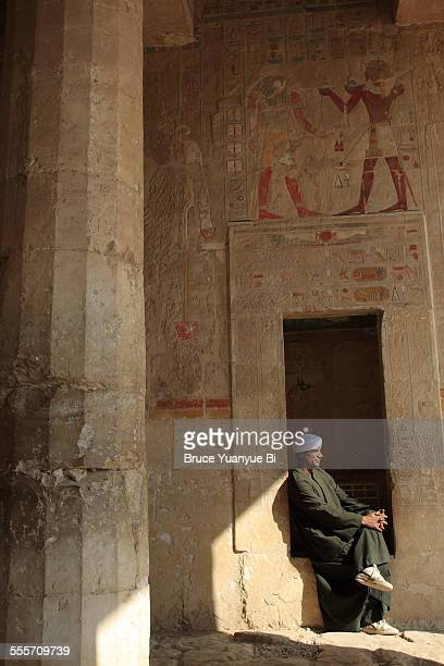 A caretaker in Mortuary temple of Hatshepsut