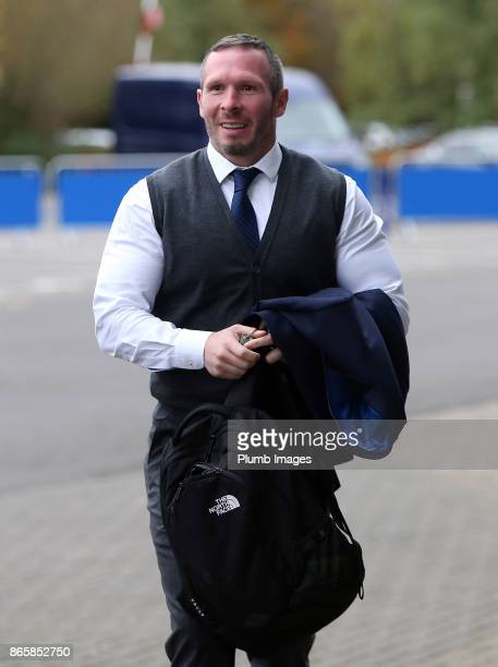 Caretaker manager Michael Appleton arrives at King Power Stadium ahead of the Carabao Cup match between Leicester City and Leeds United at King Power...