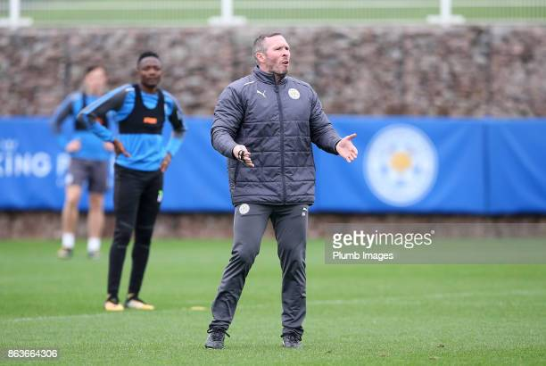 Caretaker manager Michael Appleton during the Leicester City training session at Belvoir Drive Training Complex on October 20 2017 in Leicester...