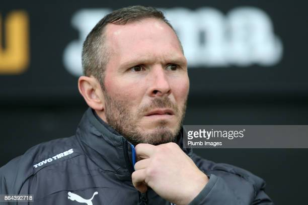 Caretaker Manager Michael Appleton of Leicester City at Liberty Stadium ahead of the Premier League match between Swansea City and Leicester City at...