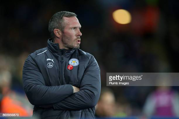 Caretaker manager Michael Appleton of Leicester City during the Carabao Cup fourth round match between Leicester City and Leeds United at The King...