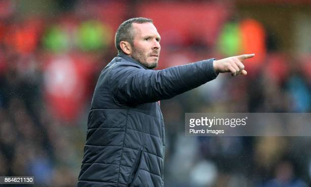 Caretaker Manager Michael Appleton of Leicester City during the Premier League match between Swansea City and Leicester City at Liberty Stadium on...