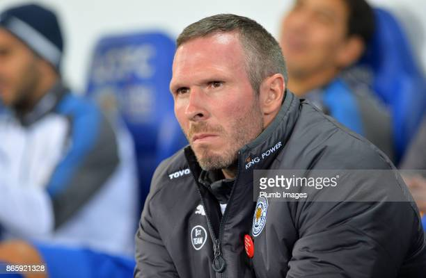Caretaker manager Michael Appleton of Leicester City up at King Power Stadium ahead of the Carabao Cup match between Leicester City and Leeds United...