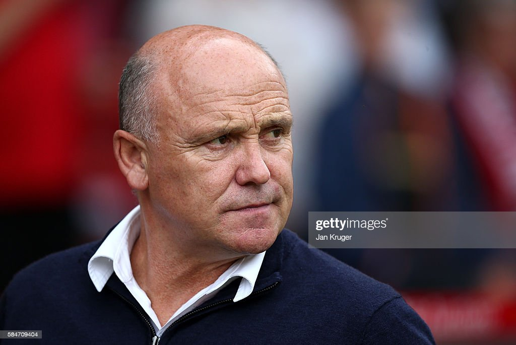 Caretaker manager of Hull City Mike Phelan looks on during the pre-season friendly match between Nottingham Forest and Hull City at City Ground on July 30, 2016 in Nottingham, England.