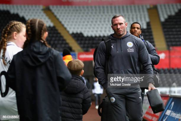 Caretaker Manager of Leicester City Michael Appleton arrives prior to the Premier League match between Swansea City and Leicester City at Liberty...