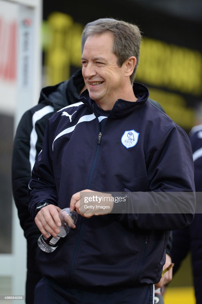 Caretaker Manager of Sheffield Wednesday Stuart Gray is seen during the the Sky Bet Championship match between Watford and Sheffield Wednesday at Vicarage Road on December 14, 2013 in Watford, England,