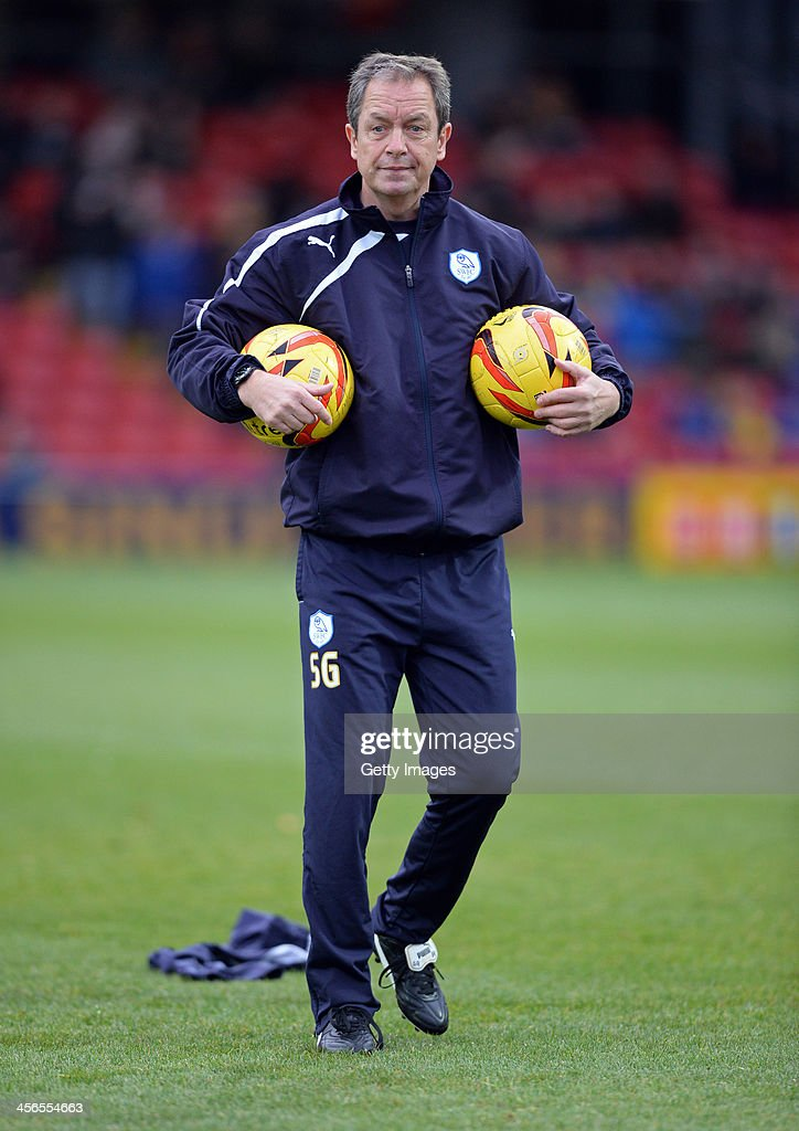 Caretaker Manager of Sheffield Wednesday Stuart Gray is seen prior to the Sky Bet Championship match between Watford and Sheffield Wednesday at Vicarage Road on December 14, 2013 in Watford, England,