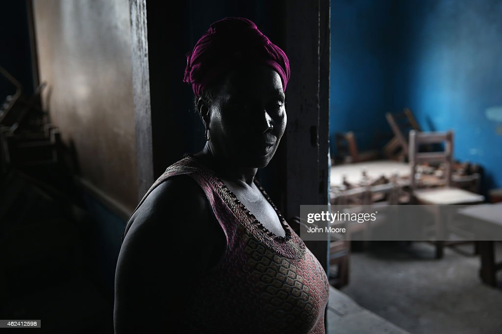 A caretaker stands in a kindergarden on January 27 2015 in Monrovia Liberia Although Liberian schools are supposed to reopen next Monday February 2...