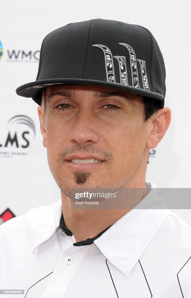 Carey Hart arrives at the X Games Celebrity Skins Classic golf tournament for charity at Trump National Golf Club in Rancho Palos Verdes