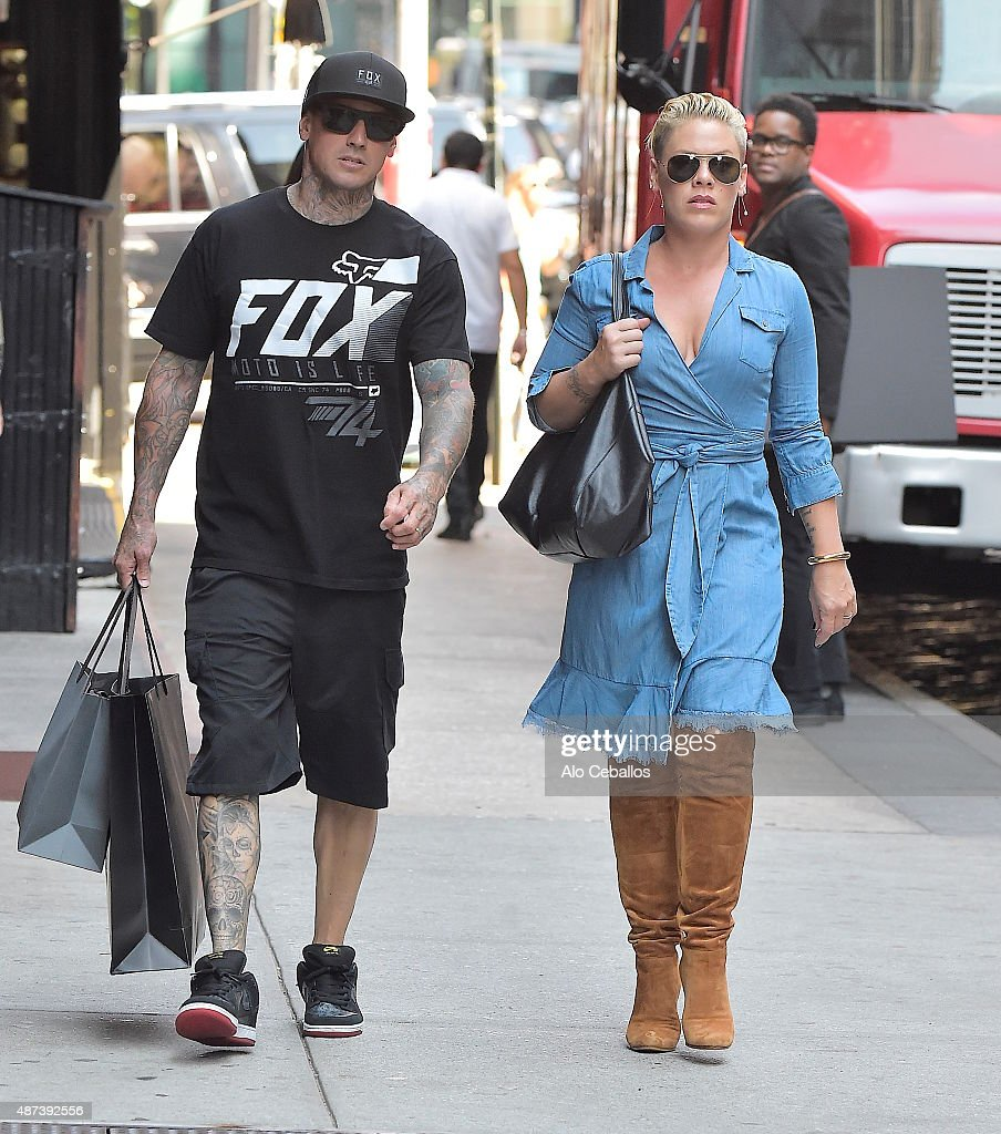 Carey HartPink are seen in Soho on September 9 2015 in New York City