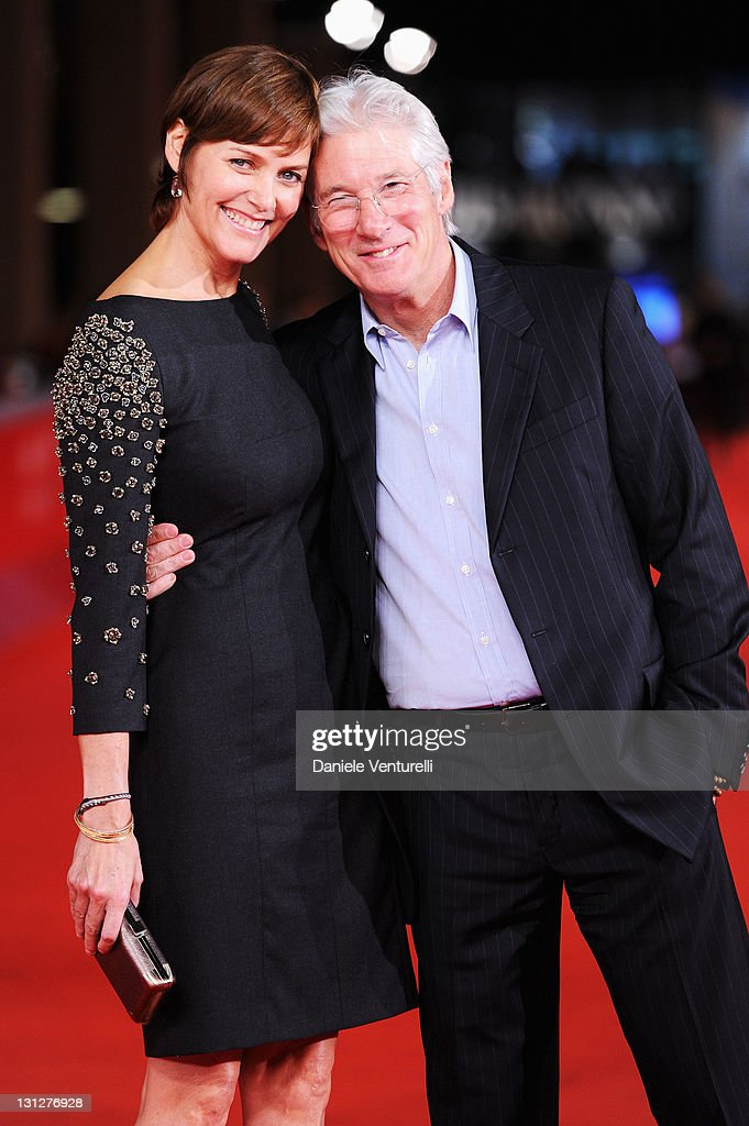 Carey Lowell and actor Richard Gere attend the 6th International Rome Film Festival at Auditorium Parco Della Musica on November 3 2011 in Rome Italy