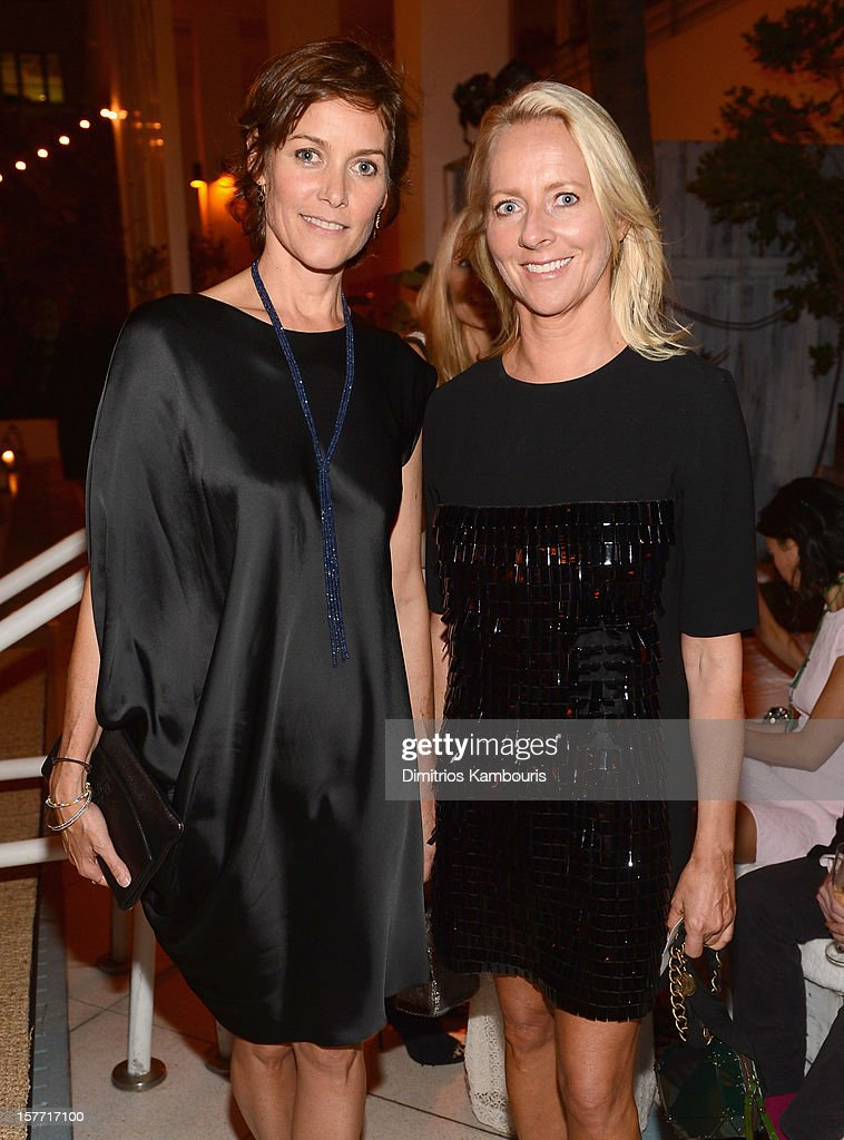 Carey Lowell and Linda Wells attend a dinner and auction hosted by CHANEL to benefit the Henry Street Settlement at Soho Beach House on December 5, 2012 in Miami Beach, Florida.