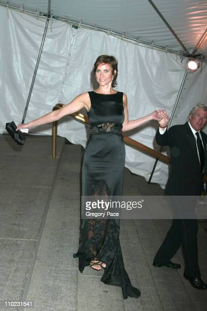 Carey Lowell and Richard Gere during The Costume Institute's Gala Celebrating 'Chanel' Departures at The Metropolitan Museum of Art in New York City...