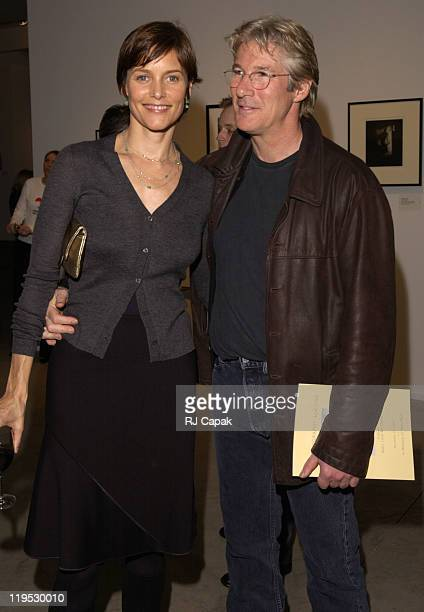 Carey Lowell and Richard Gere during Vogue Magazine Hosts Photography Auction to benefit God's Love We Deliver at The Chelsea Art Museum in New York...