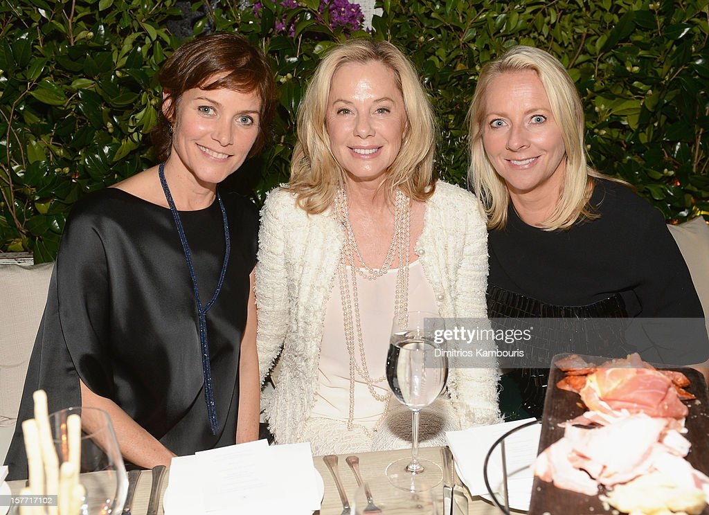 Carey Lowell, Jane Buffett and Linda Wells attend a dinner and auction hosted by CHANEL to benefit the Henry Street Settlement at Soho Beach House on December 5, 2012 in Miami Beach, Florida.