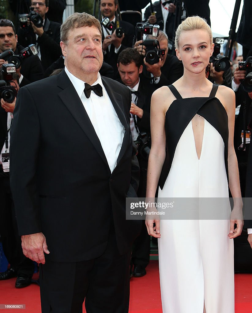 Carey Mulligan and John Goodman attend the Premiere of 'Inside Llewyn Davis' at The 66th Annual Cannes Film Festival on May 19, 2013 in Cannes, France.