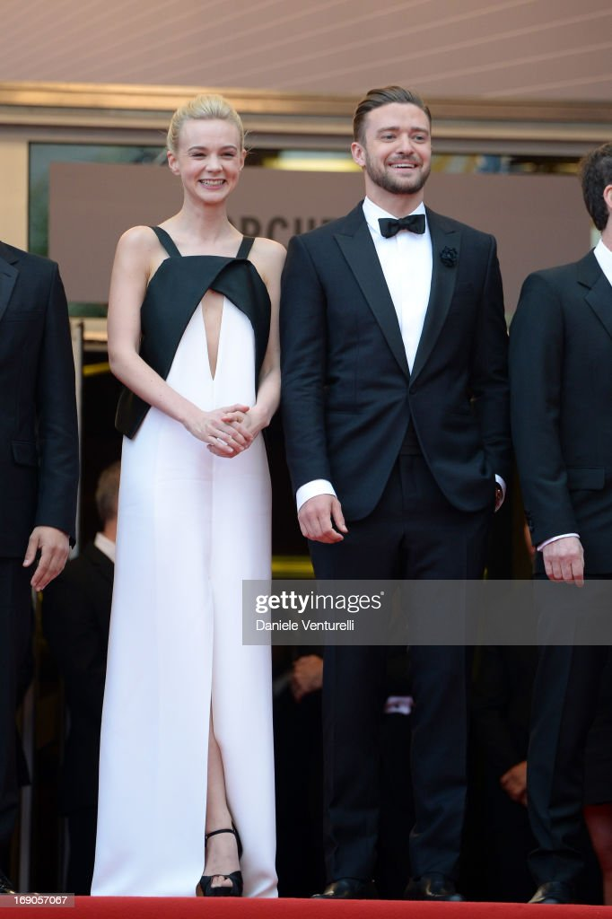 Carey Mulligan and Justin Timberlake attend the Premiere of 'Inside Llewyn Davis' during the 66th Annual Cannes Film Festival at Palais des Festivals on May 19, 2013 in Cannes, France.