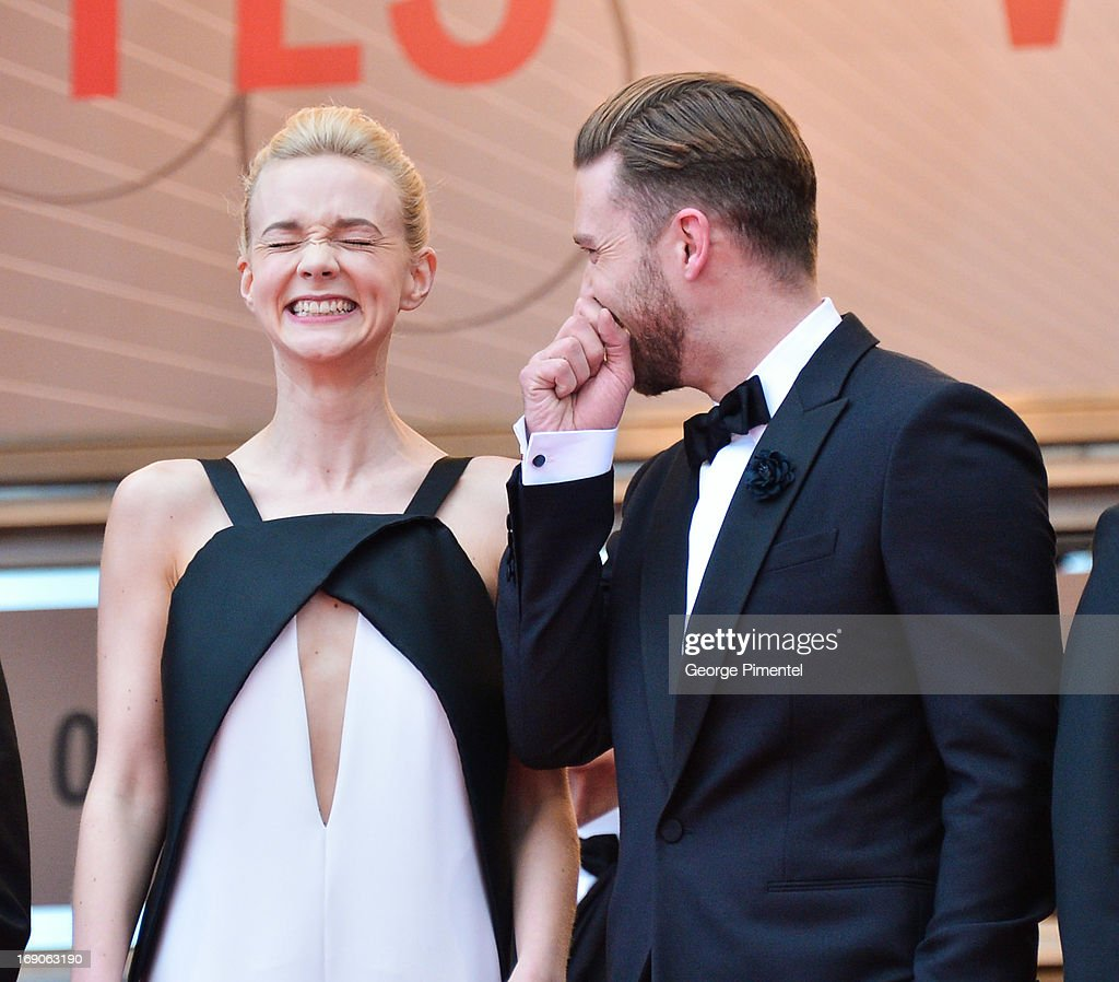 Carey Mulligan and Justin Timberlake attends the Premiere of 'Inside Llewyn Davis' at The 66th Annual Cannes Film Festival on May 19, 2013 in Cannes, France.