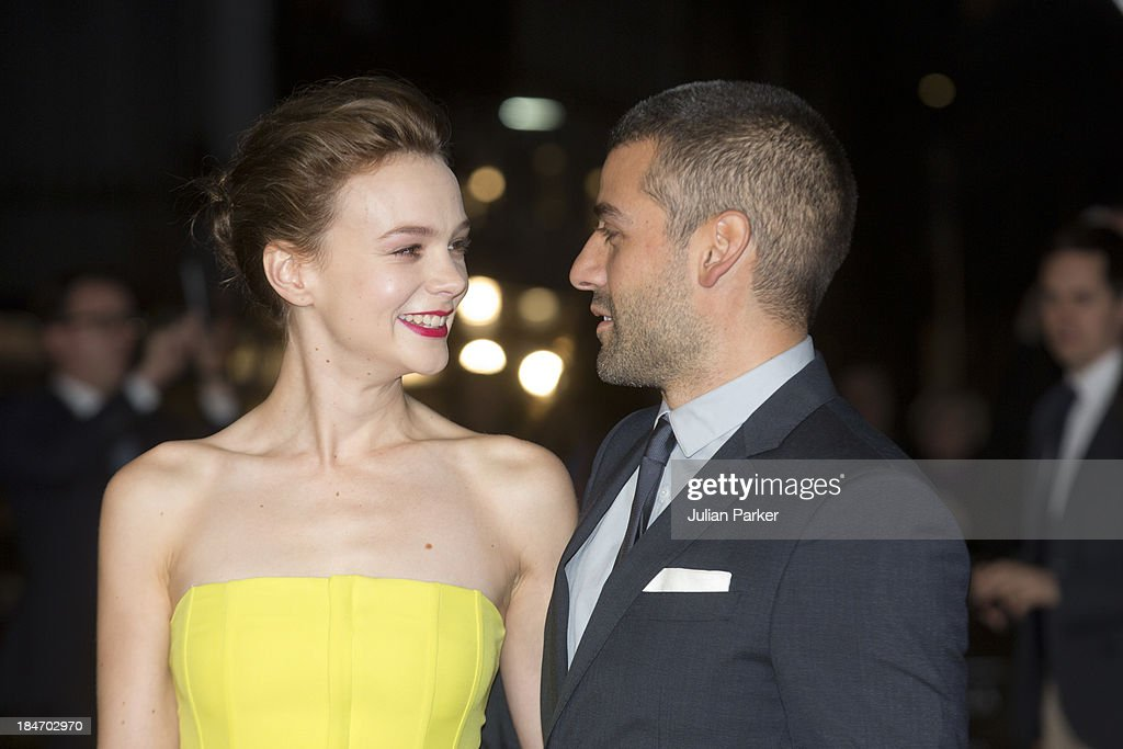 Carey Mulligan and Oscar Isaac attend the screening of 'Inside Llewyn Davis' Centrepiece Gala Supported By The Mayor Of London during the 57th BFI London Film Festival at Odeon Leicester Square on October 15, 2013 in London, England.