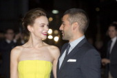 Carey Mulligan and Oscar Isaac attend the screening of 'Inside Llewyn Davis' Centrepiece Gala Supported By The Mayor Of London during the 57th BFI...