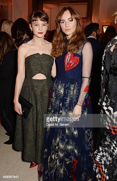 Carey Mulligan and Suki Waterhouse attend the Harper's Bazaar Women Of The Year awards 2014 at Claridge's Hotel on November 4 2014 in London England
