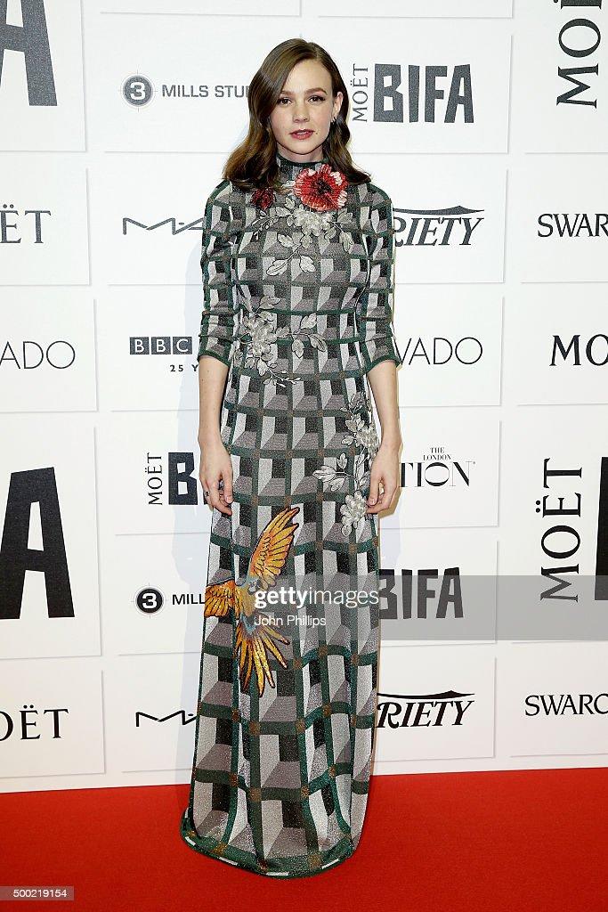 Carey Mulligan arrives at The Moet British Independent Film Awards 2015 at Old Billingsgate Market on December 6 2015 in London England