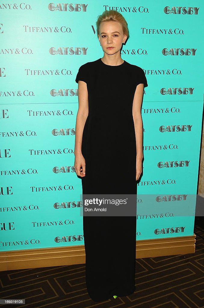 Carey Mulligan arrives at the Tiffany & Co Great Gatsby dinner at Rockpool on May 23, 2013 in Sydney, Australia.